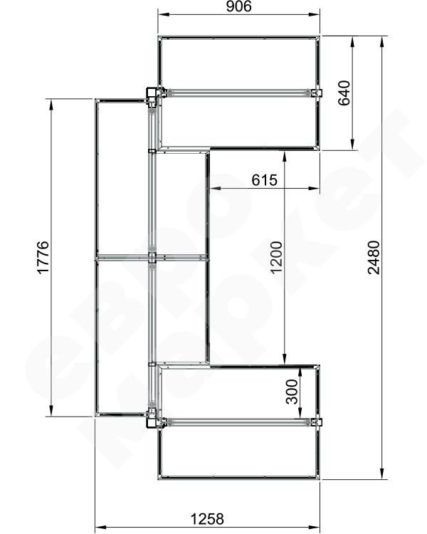 Модуль островной высокий 4-х секционный