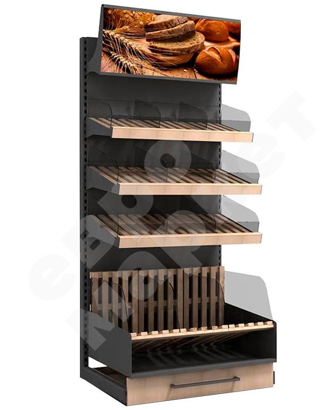 Хлебный стеллаж для багета без фриза