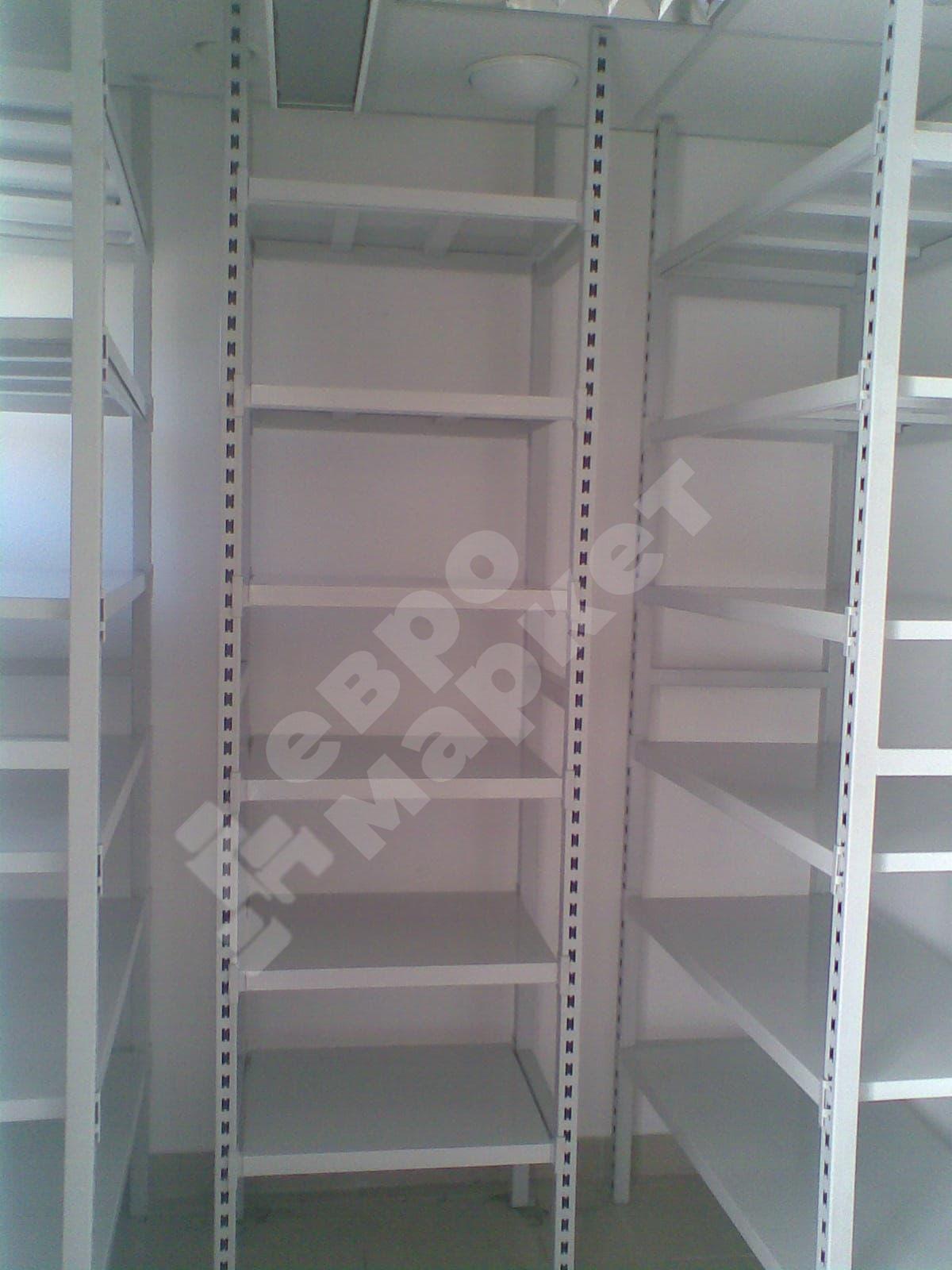 Металлический стеллаж для склада, 4 полки