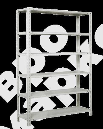 Стеллаж для склада металлический, 6 полок