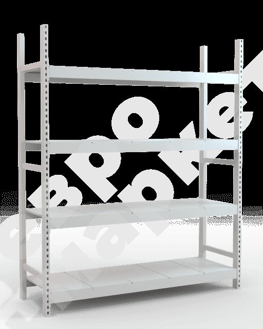 Металлический стеллаж складской с наборными полками