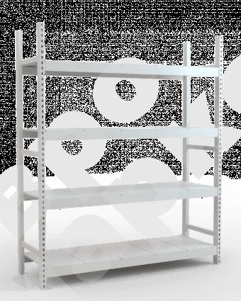 Стеллаж складской высотой 220 см с наборными полками