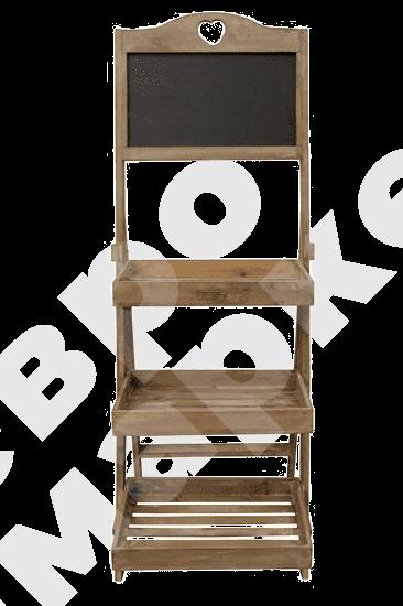Стойка деревянная с рекламным топпером