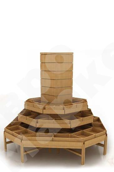 Система деревянных развалов островная вокруг колонны