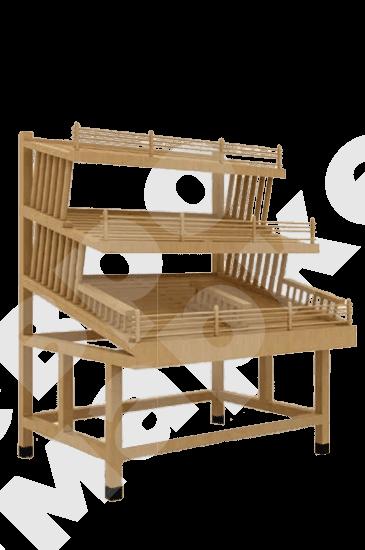 Хлебный стол-стеллаж с задней загрузкой