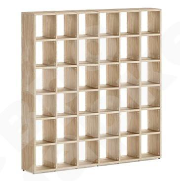 Винная стена-стойка матричная с мелкими отделениями