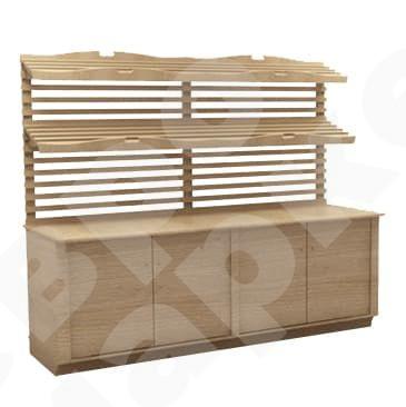 Хлебный стеллаж-шкаф