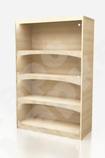 Винная витрина - шкаф из ЛДСП с дверцами BD 001