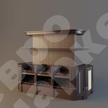 Островной стеллаж для вина с открытым накопителем LD 019