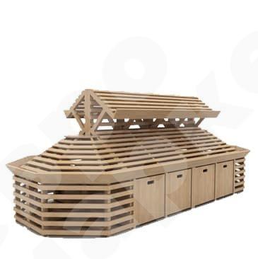 Система деревянных овощных развалов с суперструктурой. EM-02.130.000 СБ