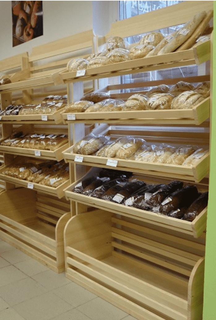 Стеллаж для хлеба облегченный рядный